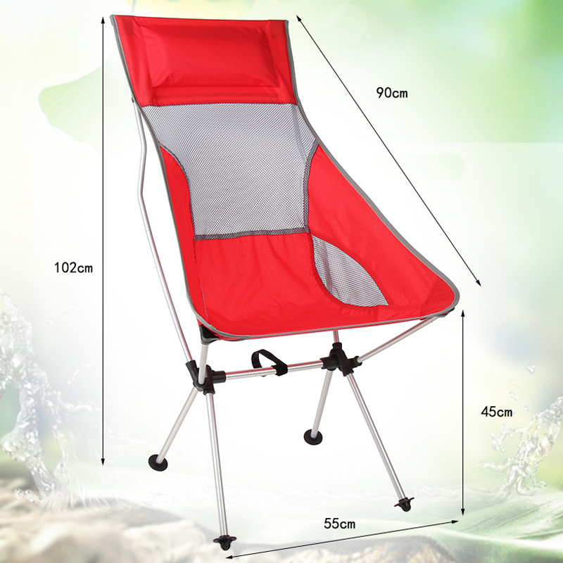 Newest Colorful Outdoor Folding Chair High Quanlity Portable Ultralight  Collapsible Moon Leisure Camping Chair Load Limit
