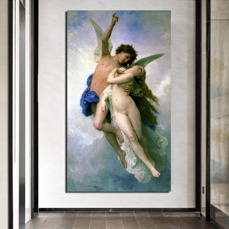 Aestheticism Myth Of Psyche And Eros Canvas Painting Print Living Room Home Decor Modern Wall Art Oil Posters Pictures