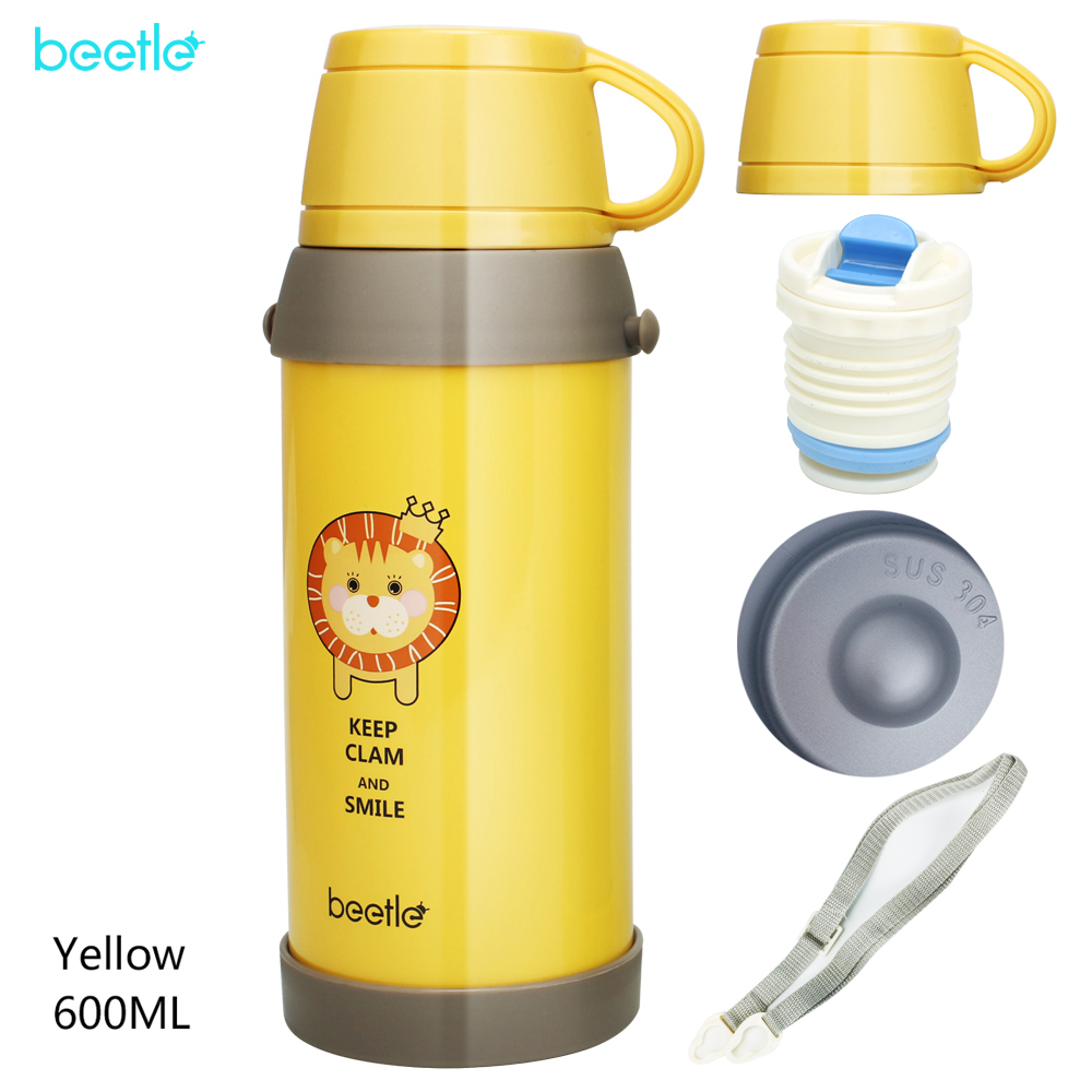 304 Stainless Steel insulated Thermos Bottle Thermo cup Travel Coffee Mugs Thermal vacuum water bottle Thermal Sport Kettle