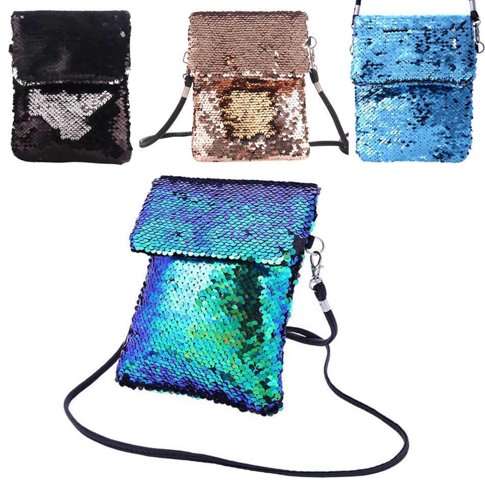 Shiny Mermaid Sequins Crossbody Mini Bags For Baby Girls Cute Messenger  Glitter Handbag Kids Coin Purse be12a59d5662