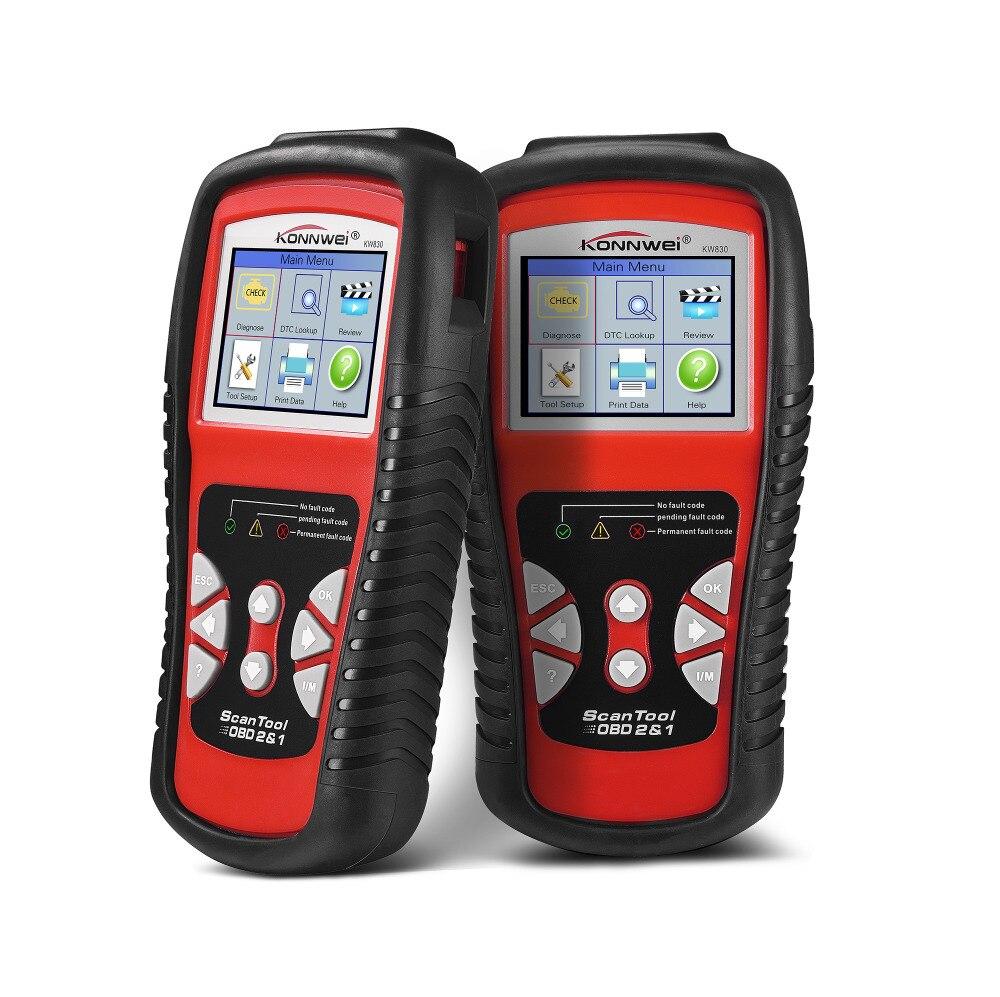 imágenes para KW830 KONNWEI OBD2/EOBD herramienta de Diagnóstico Auto Escáner Lector de Código de Avería Automotora de Diagnóstico Del Coche Del Coche detector Herramienta Automotriz
