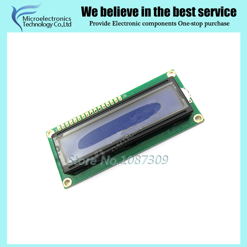 1pcs 5V lcd 1602 blue screen Character LCD Display Module Blue Blacklight New and white  ...