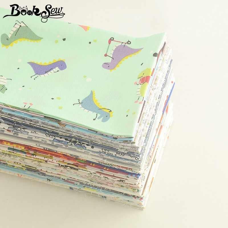 Booksew 40x50cm 100% tela de algodón Telas Tissu dibujos animados Animal flor serie Ankara tela almohada edredones DIY Patchwork bebé niños