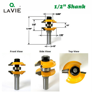 "Image 3 - LAVIE 2pcs 12mm 1/2"" Shank Entry & Interior Door Ogee Router Bit Matched MIlling Cutter Set for Wood Woodworking Machine  03123"