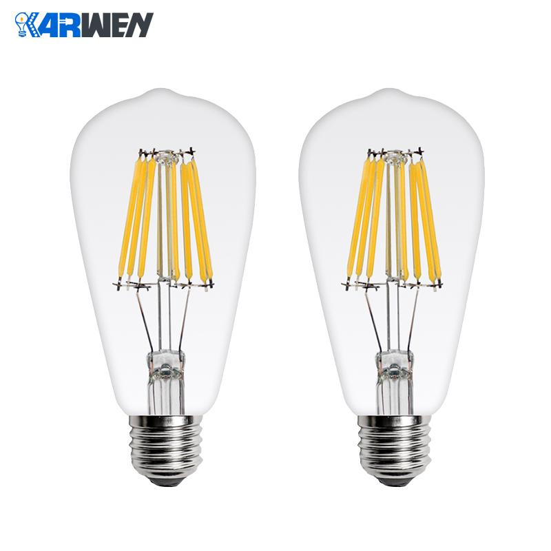 KARWEN LED Bulb Lamp Filament Light ST64  Antique Vintage LED Edison Bulb 2W 4W 6W 8W Glass Ball Bombillas LED Lamp 220V