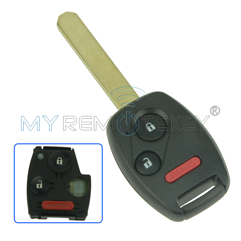 Remote Head Key OUCG8D-380H-A5 2 Button with Panic 313.8Mhz for Honda Ridgeline Odyssey Fit Remtekey