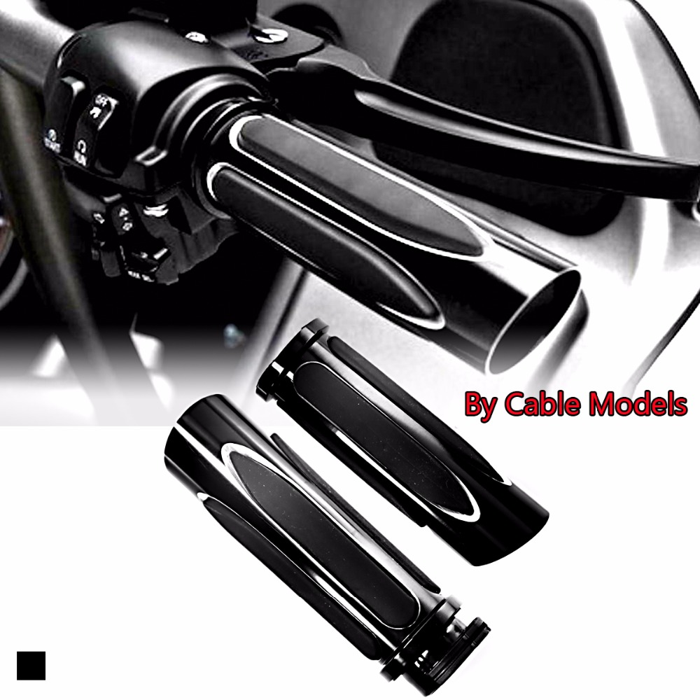Shallow Cut Nero Soft Touch Comfort Grips Mano Grip Set Per Touring Sportster Dyna 883 1200 Moto CustomShallow Cut Nero Soft Touch Comfort Grips Mano Grip Set Per Touring Sportster Dyna 883 1200 Moto Custom