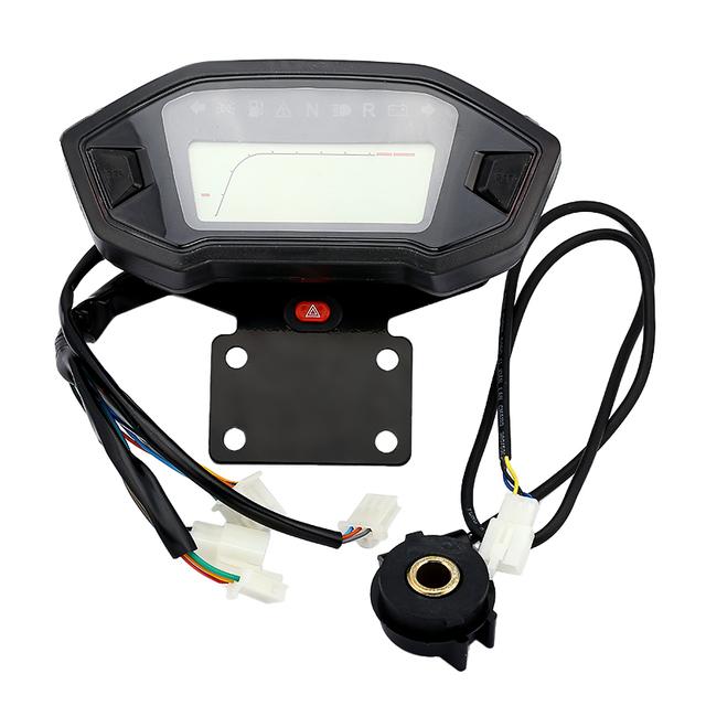 Digital LCD de tacómetro ajustable para motocicleta de 199 KM/H con Sensor