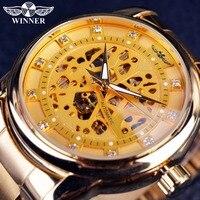 2020 남자 시계 기계식 T-WINNER 다이아몬드 해골 디자인 남자 시계 자동 남성 손목 시계 시계 남자 Relogio Masculino