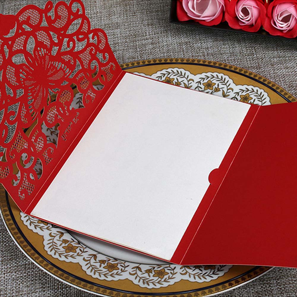 50pcs Luxurious Wedding Decoration Supplies China White Red Laser ...