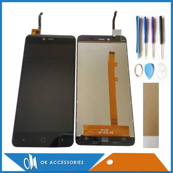Pour Highscreen Facile Puissance LCD Display + Écran Tactile Digitizer Assemblée Couleur de Haute Qualité Noir Avec Outils Bande 1 pc/lot