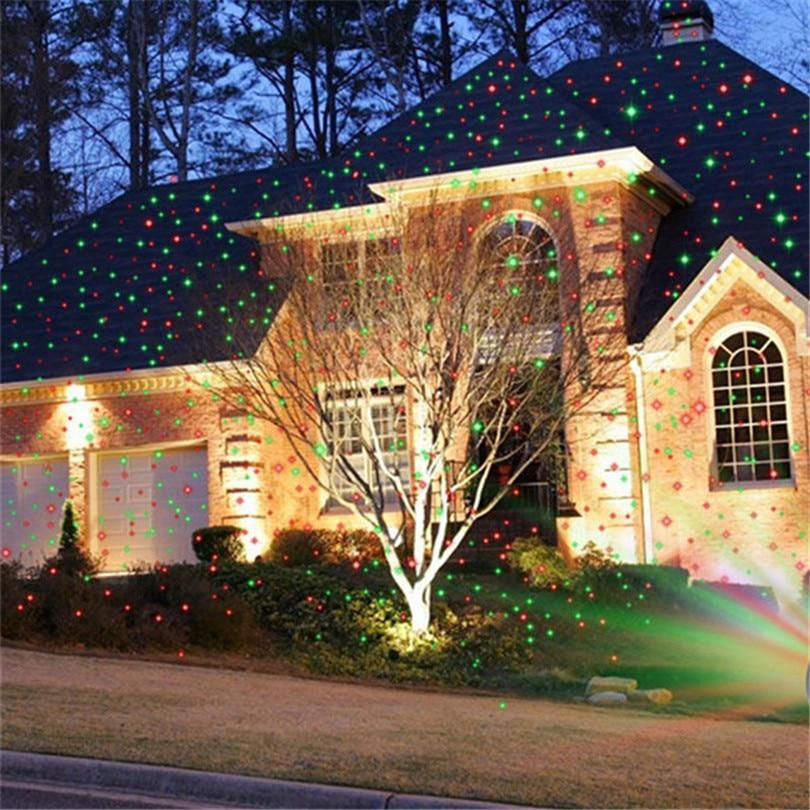 Christmas Fairy Laser Light Projector Moving Stars Party Spotlight Waterproof Outdoor Garden Backyard Patio Landscape