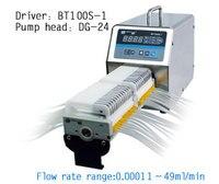 Bt100s 1 dg10 24 (10 роликов) мульти 24 Каналы лаборатории низкий расход Электрический Перистальтический дозирования насос Аквариумные насосы 0.00011 20