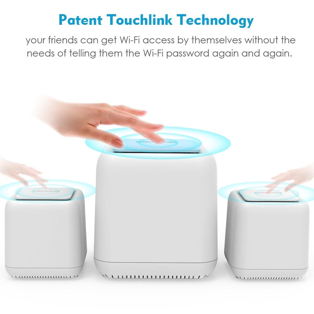 Gigabit Ethernet Touchlink AC1200 Беспроводной Wi-Fi маршрутизатор/ретранслятор 1200 Мбит/с Dual Band 2,4G и 5 ГГц весь дом сетки Wi-Fi Smart Системы