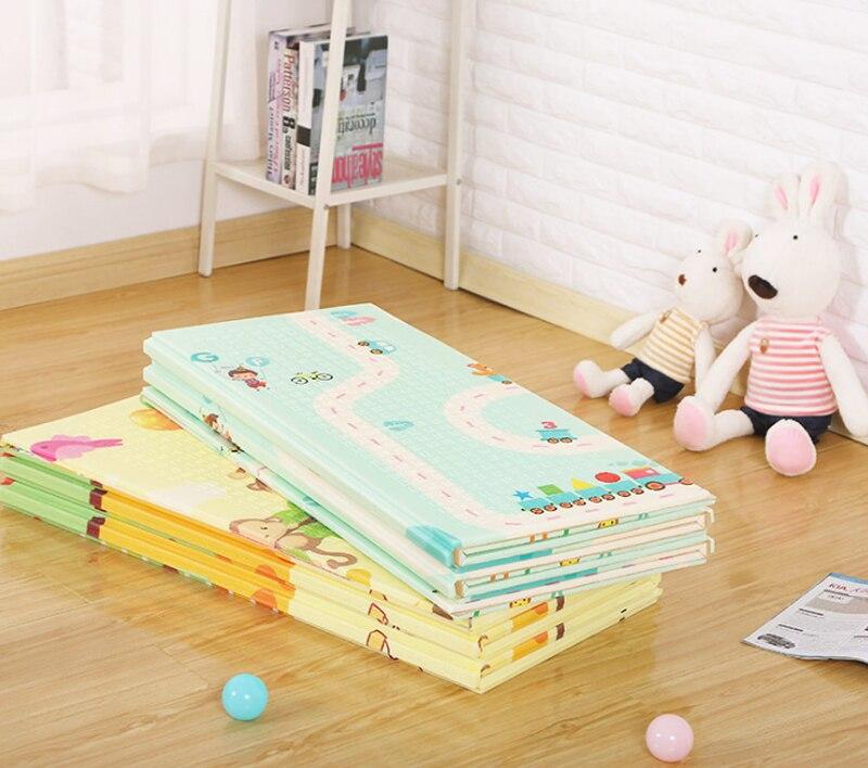 Tapis de jeu bébé XPE Puzzle Tapis pour enfants épaissi Tapete Infantil enfants ramper Pad Tapis pliant Tapis 200x180x1 cm Tapis de jeu - 5