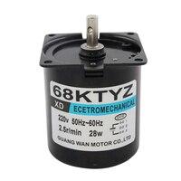 Miniature 28W permanent magnet synchronous AC motor slow reversing motor 220V gear motor
