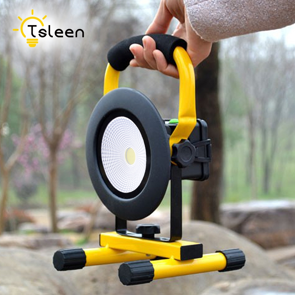Cheap SALE portable rechargeable led flood light Waterproof IP65 camping lamp outdoor Spotlight Floodlight car charger