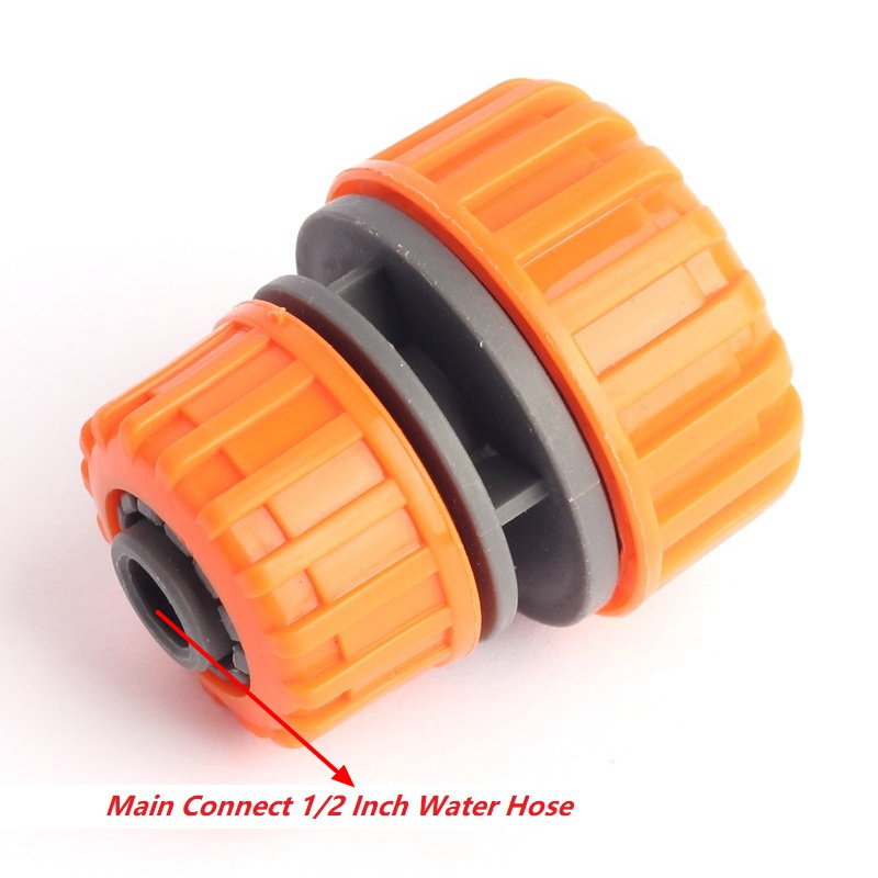 ABS 3/4 Inch To 1/2 Inch Variable Water Hose Quick Connectors Water Supply Pipe Repair Connector Garden Irrigation Tube Fittings