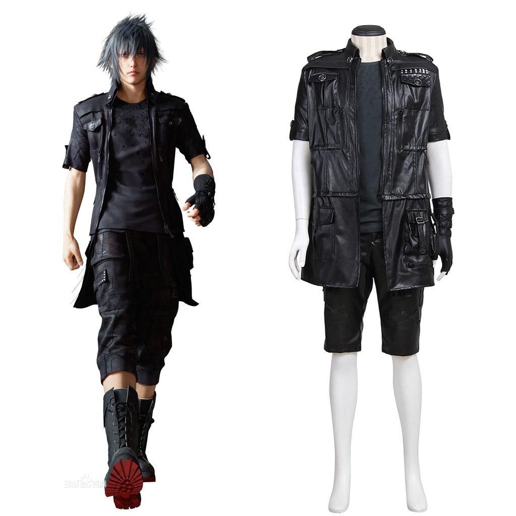 Final Fantasy XV 15 Noctis Lucis Caelum Noct Cosplay tenue hommes femmes Halloween Costumes sur mesure toute taille