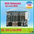 6 S 12A 22.2 V li-ion PCM BMS placa de proteção da bateria Limn2O4 bms pcm com equilíbrio para LicoO2 bateria li