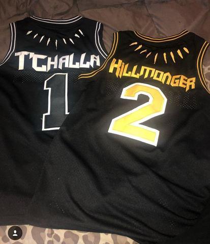 new black panther wakanda t challa killmonger movie basketball jersey stitched in basketball jerseys from sports entertainment on aliexpress com alibaba