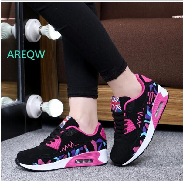 New 2017 Fashion Comfortable Flats Women Trainers Woman Shoes Casual Outdoor Walking Shoes Women Flats Zapatillas