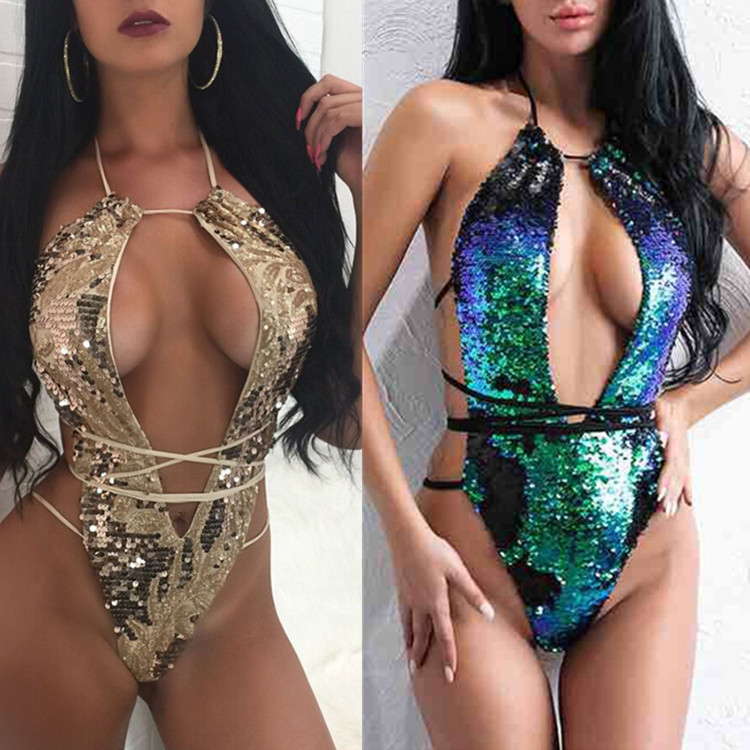 0bb902da8db1d Detail Feedback Questions about Brazilian Sexy Luxury Bling Sequin Bandage  Swimwear Women Crystal swimsuit Solid Swimsuit Bathing Biquini Maillot De  Bain ...
