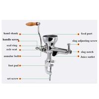 Exprimidor manual de acero inoxidable exprimidor de hierba de trigo wheatgrass salud barrena lento jugo máquina