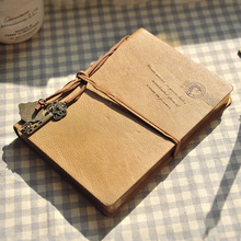 2018 Rushed Organizador 1 Pcs Retro Diary Notebook Business Leather Straps With Key Notepad Planners Student School WJ-XXWJ341-
