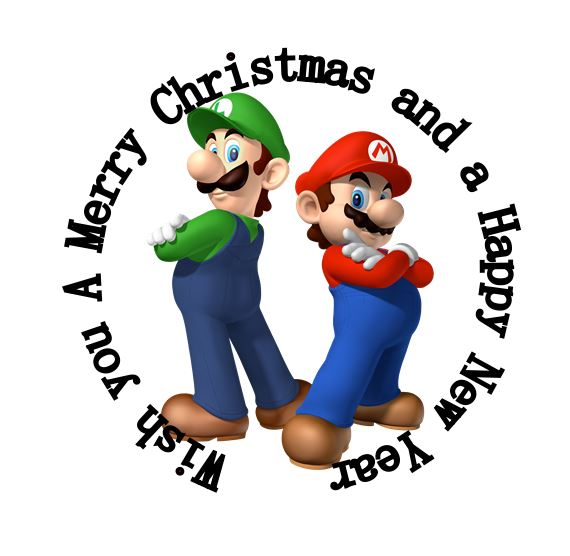 35 round super mario 35 mm party stickers christmas new year greeting labels seals for post card envelop mix in stickers from toys hobbies on