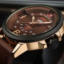 Mens Watches Top Brand Luxury NAVIFORCE Sports Watch Men Military Leather Quartz-watch Waterproof Male Clock Relogio Masculino
