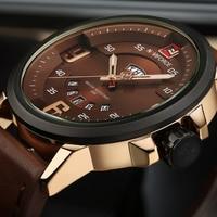Mens Watches Top Brand Luxury NAVIFORCE Sports Watch Men Military Quartz Wristwatches Waterproof PU Male Clock