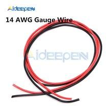 14 AWG Калибр провода гибкие многожильные медные кабели с силиконовой оплеткой для RC черный 1 М+ Красный 1 м
