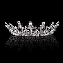 Wedding Bridal Crystal Tiara Crowns Princess Queen Pageant Prom Rhinestone Veil Tiara Headband Hair Accessory