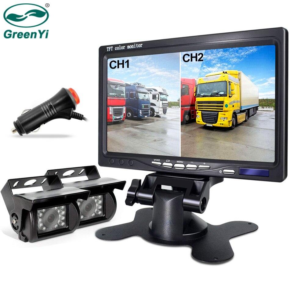 GreenYi Backup Camera and Car Dash Monitor Camera Wired and Waterproof Rear View Reverse Camera For