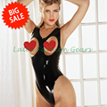 2016 new moulded sexy latex catsuit with bust open design one-piece rubber swimsuit adult female exotic apparel costumes