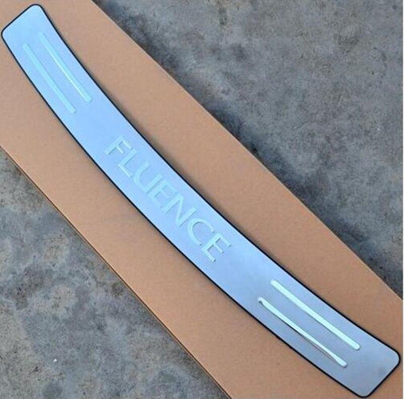 Painel traseiro de aço inoxidável de alta qualidade do peitoril da janela, protetor do amortecedor traseiro sill para renault fluence 2011-2018 carro-estilo