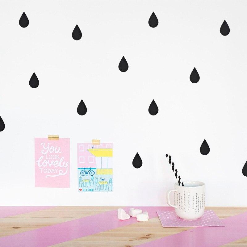 DIY Raindrop Wall Sticker Removable Rain Drop wall decals ros