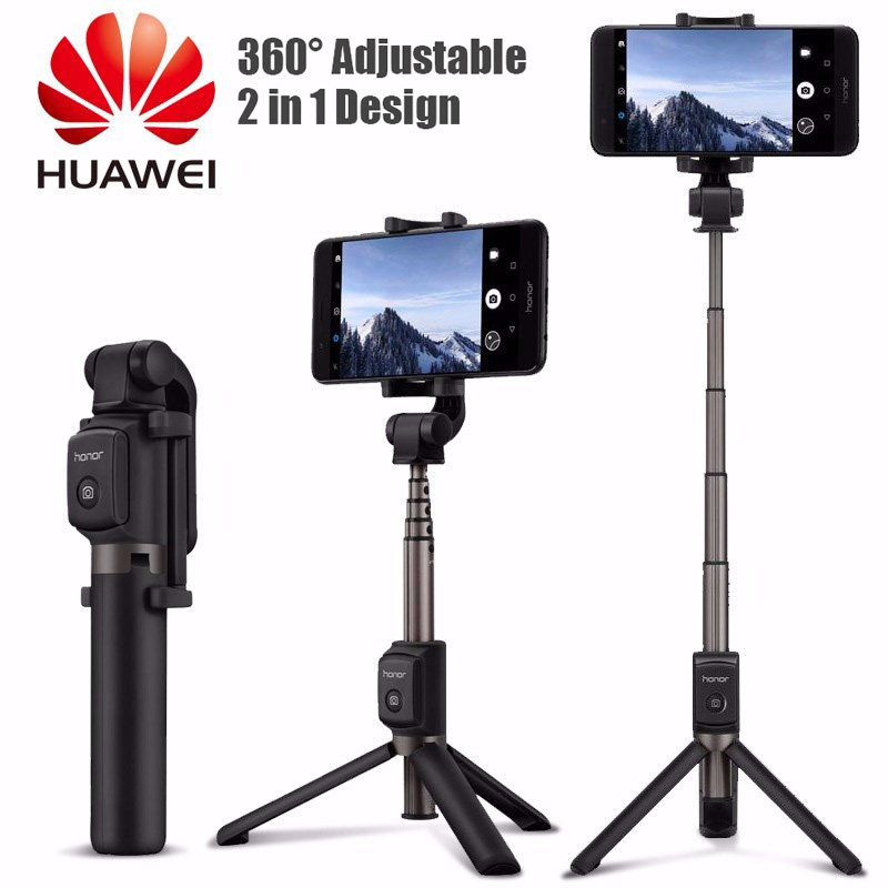Huawei Honor trépied Selfie bâton Portable sans fil contrôle caméra obturateur bluetooth 3.0 monopode Portable pour Huawei Xiaomi iPhone