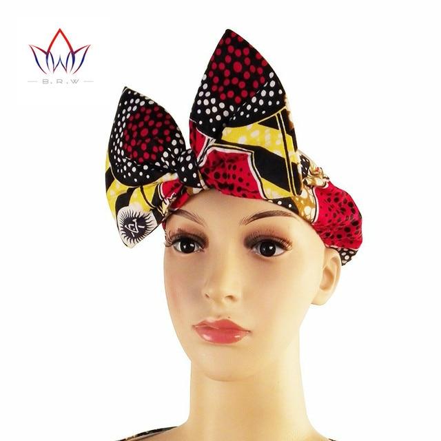 BRW Fashion Headbands for Women Girls African Batik Print Headbands Bownot  Green Red Big Bow Hairbands WYA013 c529ded904f