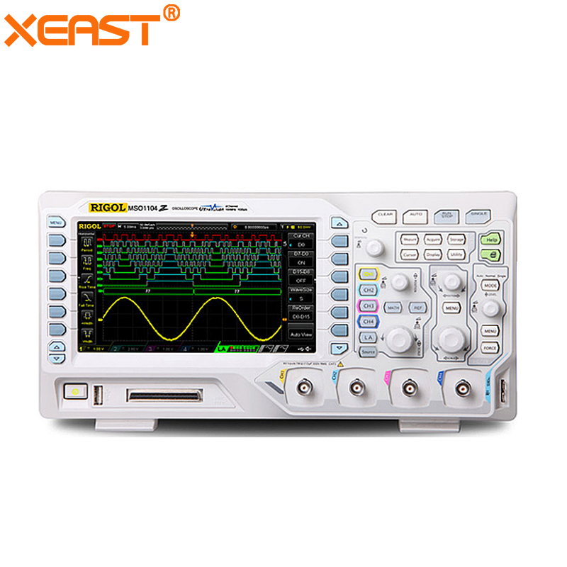 4 canal oscilloscope RIGOL DS1104Z numérique oscilloscope 100 mhz 4 Canal Mémoire Profondeur 12 Mpts 30,000 wfm/s