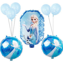 9 Buah/Set Baby Shower Gadis Foil Balon Disney Frozen Princess Elsa Balon Pesta Ulang Tahun Anak-anak Mainan Globos(China)