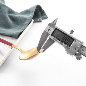 Image 4 - 2020 新加入レッドゴールド食器西部カトラリースプーンフォークナイフ箸食器セット食品の写真撮影の背景の小道具