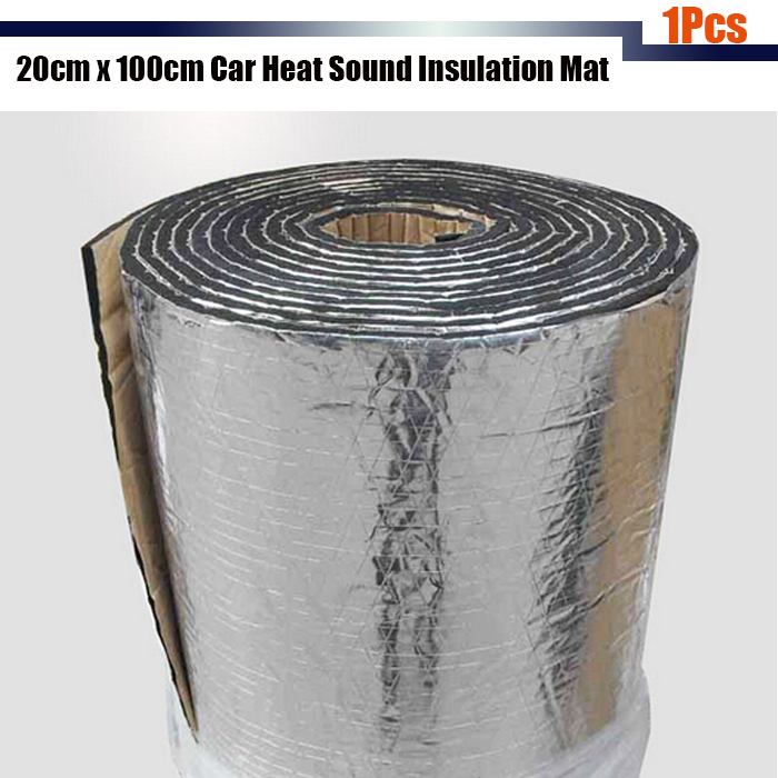 Cawanerl 1pcs 20cm X100cm Aluminum Foil Car Sound Heat