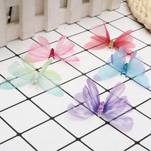 3D Silk Butterfly DIY Craft Supplies Materials for Clothes Choker Apparel Decor Clothing Handicraft Accessories for Needlework(China)