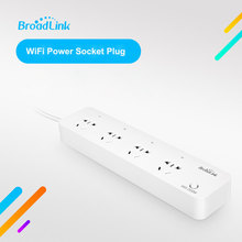 Original Broadlink MP1,Smart Power Plug and play WiFi strip remote control available 4-Outlet Socket for Smart Home