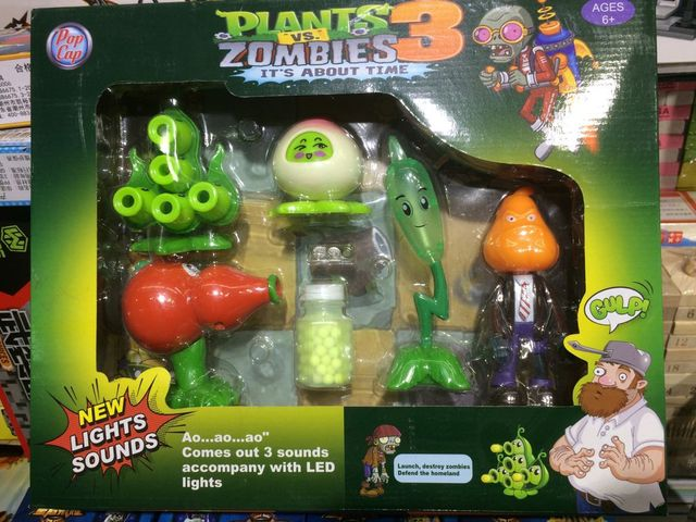 Funny Plants vs Zombied Garden Warfare Peashooter ABS Action Figure ...