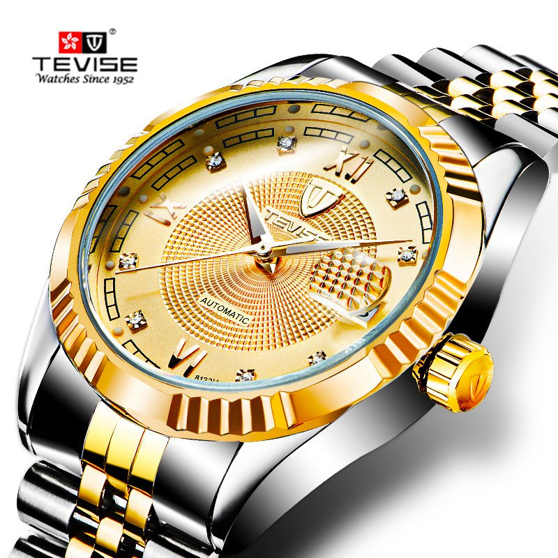 TEVISE New Busiiness Wrist Watches Men Luxury Famous Male Clock Top Brand Automatic Mechanical Watch Hodinky Relogio Masculino relogio masculino tevise luxury brand watch men tourbillon automatic mechanical watches moon phase skeleton wrist watch clock