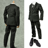1:6 Scale Career Formal Suit Shoes 12' Male Action Figure Clothes Set