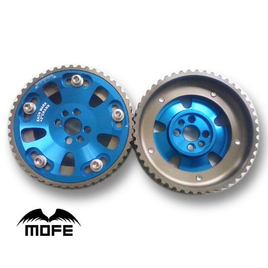 1 pair Aluminum Alloy Adjustable Cam Gear for Nissan RB20 / RB25 / RB26 Blue